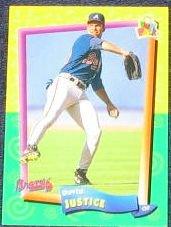 94 UD Fun Pk David Justice #23 Braves