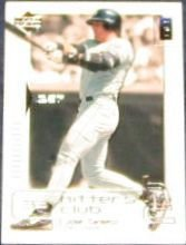 2000 UD Hitters Club Jose Canseco #15 Devil Rays