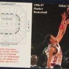 96-97 Nebraska Basketball Pocket Sked. Mikki Moore