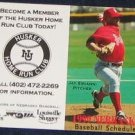 99 Nebraska Baseball Pocket Schedule Jay Sirianni