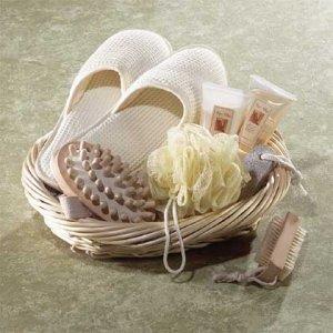 Vanilla Themed Spa Basket