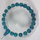 Turquoise glass bead stretchy Bracelet