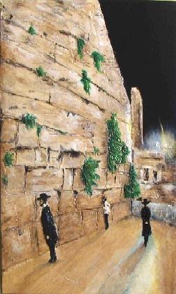 Wailing Wall at Night