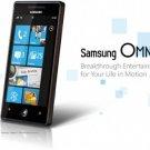 "Samsung i8700 Omnia 7 Windows 7 Smartphone Unlocked - 4"" Touch Screen 5MP Camera - 8GB Memory"