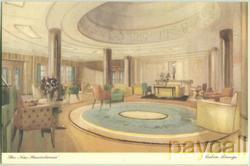 Cunard White Star Postcard New Mauretania Cabin Lounge