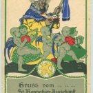 Obermeier Postcard Pope Loewenbrau Beer Angels RARE