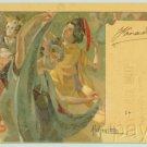 HOHENSTEIN Art Nouveau IRIS Postcard Japanese Dancers