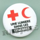 Red Cross League Button Pin Light the Darkness French