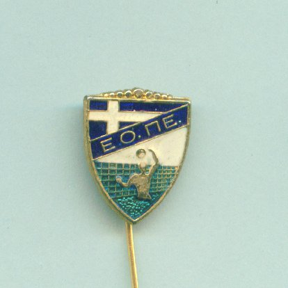 VOLLEYBALL pin Greece federation golden plated