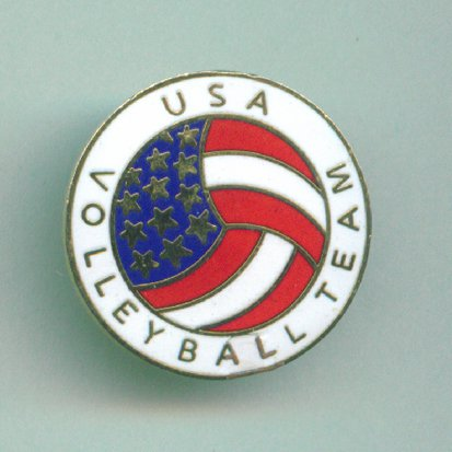 VOLLEYBALL pin USA Team