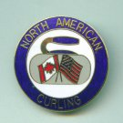 North American Curling Association pin USA Canada
