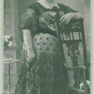 CAB Photo Bulgaria Woman in Beautiful Dress Art Nouveau Chair c1900
