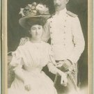 CAB Photo Bulgaria Officer Summer Uniform Wife Beautiful Modern Dress Hat c1910