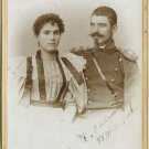 CAB Photo Bulgaria Officer and Wife in Nice dress 1899