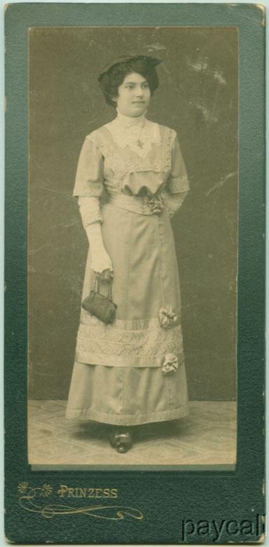 CAB Photo Bulgaria Young Girl Beautiful Modern Dress c 1920