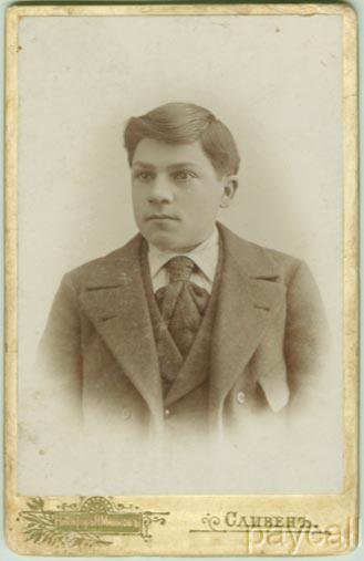 CAB Photo Bulgaria Young Man in Modern Suit Coat 1897