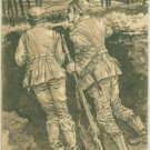WW I Military PC Germany Soldiers in Trench