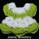 Green and White Crochet Dress Magnet