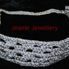 Silver Crochet Hairband