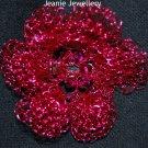 Pink Crochet Flower Brooch