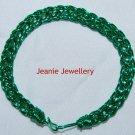Green Viking knitting Bracelet