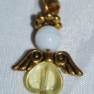 white, yellow and gold Angel Mobile Charm