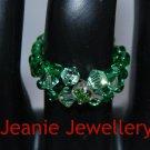 Green Swarovski Crystal Ring
