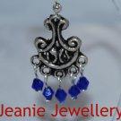 Blue Crystal Chandelier Earrings
