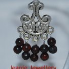 Garnet Gemstone Chandelier Earrings