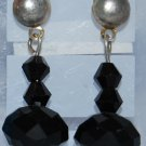 Black Swarovski and Chinese Crystal Earrings