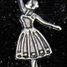 Flat Ballerina Tibetan Silver Charm