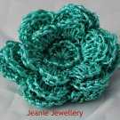 Turquoise Flower Brooch and Hair Clip