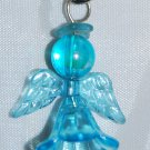 Light Blue Acrylic Angel Bag Charm