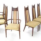 Set of 6 Mid Century Modern Walnut Dining Chairs Adrian Pearsall New Upholstery.