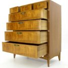 Very Clean Mid Century Modern High Chest Dresser Drawers