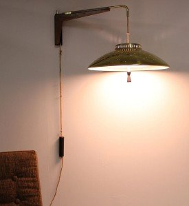 Danish Mid Century Modern Fully Adjustable Wall Light Fixture Sconce