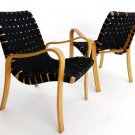 Pair of Danish Mid Century Modern Lounge Chairs by Thonet