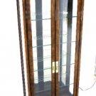 Modern Walnut Display Case Curio Cabinet Drexel
