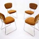 Set of 4 Vintage Mid Century Modern Chrome  Chairs Daystrom Furniture Furniture