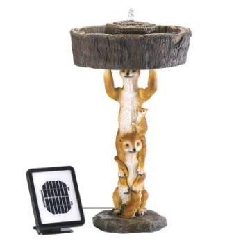Playful Meerkat Solar Fountain