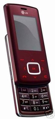 """LG KG800 - """"Red Chocolate"""" MP3 Mobile Cellular Phone (Unlocked)"""