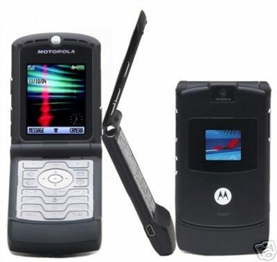 "Motorola V3 Razr ""Black"" Mobile Cellular Phone (Unlocked)"