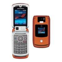 "Motorola Razr V3x ""Orange"" Mobile Cellular Phone (Unlocked)"