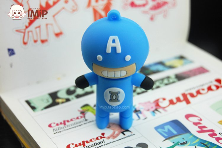 Free shipping-Promotion cartoon 4GB USB Flash Drive USBpen drive-A