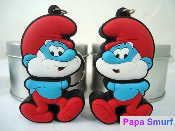Free shipping-Promotion cartoon 4GB USB Flash Drive pen drive-Papa Smurf