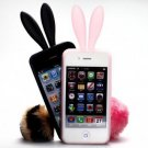 Case For Iphone 4S / Iphone case Shipping-free 10pcs/lot Wholesale (Bunny)
