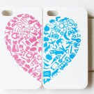Case For Iphone 4S / Iphone case Shipping-free 10pcs/lot Wholesale (heart )