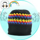 Beanie Hat with Built-in Headphones (Retro Rasta)