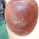 Vintage Handcarved Wooden Leaf Bowl