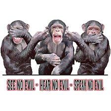 See Hear Speak Monkey